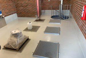 Lattiapinnoitus yrityksen toimitiloihin • ilmastointihallit | Team Suikki - Turku